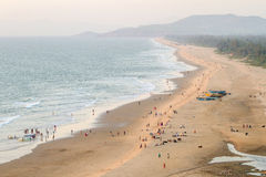 View of the beach from the tower-gopuram Royalty Free Stock Photos