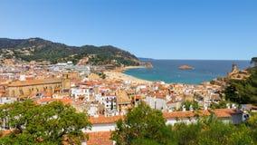 Beach Tossa de Mar Costa Brava, Spain. View on the beach town Tossa de Mar on the Costa Brava beach, Spain Stock Images