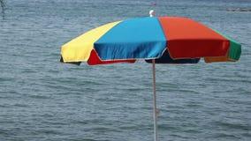 View of a beach umbrella stock video