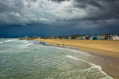 View of the beach in Venice Beach, Los Angeles  Stock Photography