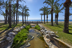 View of the beaches, Torremolinos, Costa Del Sol. Spain royalty free stock image