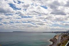 View of Beaches towards Alicante Stock Photography