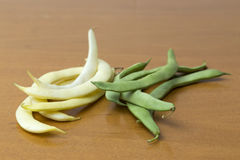 View of bean pods of different types and colors Stock Image