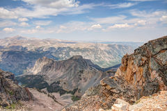 View from Beartooth All American Scenic Highway Stock Image