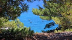 View. Beatiful view in Santorini Kamari Royalty Free Stock Image