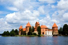 View of beautifu castle Trakai Stock Photo