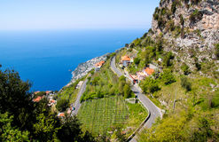 View of beautiful Amalfi Coast. Travel in Italy series - view of beautiful Amalfi Coast Royalty Free Stock Photography
