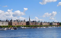 View of the beautiful architecture of Stockholm Royalty Free Stock Photo