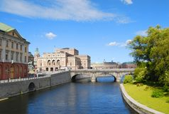 View of the beautiful architecture of Stockholm Royalty Free Stock Photos