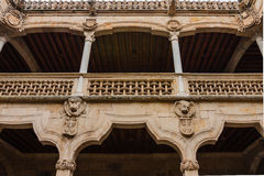 View of beautiful balcony in the House of Shells courtyard Salam Stock Photo