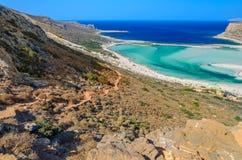 View on beautiful Balos beach and Gramvousa island, Stock Image