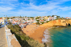 A view of beautiful beach in Carvoeiro town Stock Image