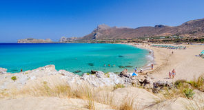 View on beautiful beach of Falasarna at Crete island Royalty Free Stock Photo