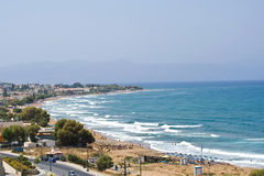View on a beautiful beach in Greece Stock Photography