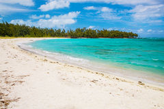 View of beautiful beach in Mauritius island Royalty Free Stock Photography