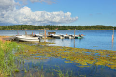 View of beautiful blue lake Royalty Free Stock Image