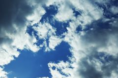 View of beautiful blue sky. With clouds royalty free stock images