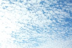 View of beautiful blue sky with clouds. View of beautiful blue sky with white clouds royalty free stock image