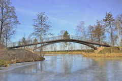 View of the beautiful bridge over the lake Stock Photography