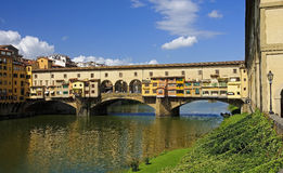 VIew of beautiful bridge Ponte Vecchio - Florence Royalty Free Stock Photography