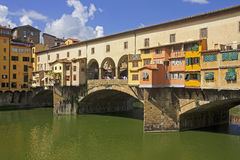 VIew of beautiful bridge Ponte Vecchio - Florence Royalty Free Stock Image