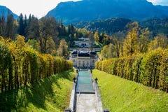 Linderhof Castle. A View of beautiful Castle Linderhof Stock Image