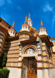View of beautiful church Lloret de Mar, Spain. Stock Photo