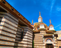 View of beautiful church Lloret de Mar, Spain. View of beautiful church Lloret de Mar, Catalonia, Spain royalty free stock photos