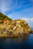 View of the beautiful city Manorola, Cinque-Terra, Italy. Stock Image