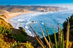 View of beautiful coastline from cliff Stock Photo