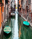 View of beautiful colored Venice canal Stock Photo