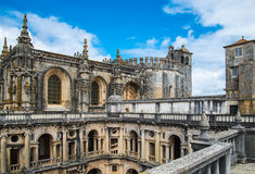 View of the beautiful Convent of Christ in Tomar Stock Image