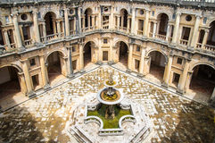 View of the beautiful Convent of Christ in Tomar, Portugal Royalty Free Stock Photography