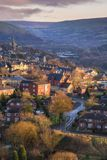 Aerial view Village Britain UK Royalty Free Stock Image