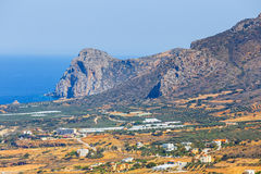 View of the beautiful Falasarna beach on Crete Royalty Free Stock Photography