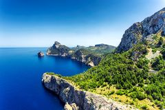 View of beautiful Formentor peninsula in the north of Mallorca island. Spain Stock Image