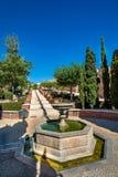 View of the beautiful gardens in the Almeria Almería castle Alcazaba Royalty Free Stock Photography
