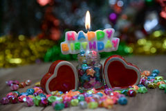 View Beautiful, happy birthday. A beautiful view of the sentence happy birthday royalty free stock photography