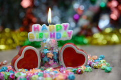 View Beautiful, happy birthday. A beautiful view of the sentence happy birthday stock photos