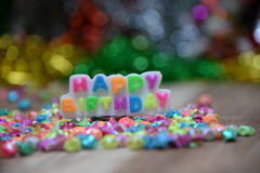 View Beautiful, happy birthday. A beautiful view of the sentence happy birthday stock image
