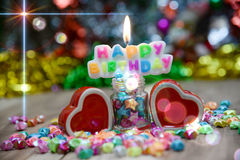 View Beautiful, happy birthday. A beautiful view of the sentence happy birthday royalty free stock images
