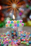 View Beautiful, happy birthday. A beautiful view of the sentence happy birthday stock photography