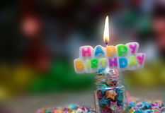 View Beautiful, happy birthday. A beautiful view of the sentence happy birthday royalty free stock image