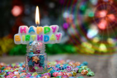 View Beautiful, happy birthday. A beautiful view of the sentence happy birthday royalty free stock photos