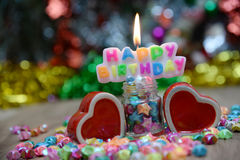 View Beautiful, happy birthday. A beautiful view of the sentence happy birthday stock images
