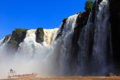 Iguasu waterfalls. Argentina.  3. A view on beautiful Iguasu waterfalls. Argentina. South America Royalty Free Stock Photos
