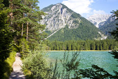 View at beautiful lake Heiterwangersee in Austria Royalty Free Stock Photo