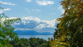 View on Leman lake Royalty Free Stock Images