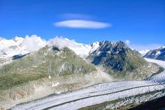 Beautiful landscape in the Alps, glacier. stock photos
