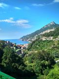View of the beautiful landscape of the city Vietri sul Mare in Italy stock image